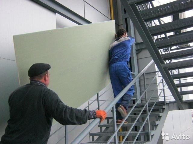Подъем стройматериалов на этаж без лифта